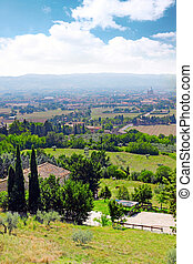 City cview of Assisi Umbria Italy - City cview of Assisi...