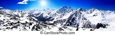 Beautiful view of mountains in the Elbrus area.Europe