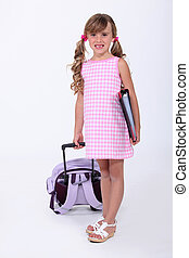 Young girl ready to start school