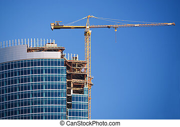 Building work 03 - Construction of a skyscraper in Moscow,...