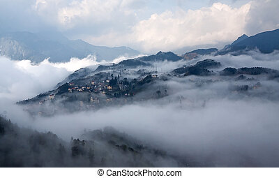 Sapa in the mist (Lao Cai, Vietnam)