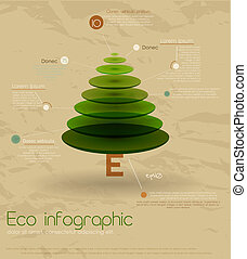 Vintage eco infographic - Vintage eco infographic with...