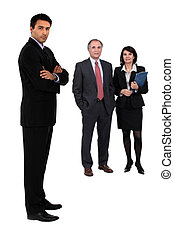 Three business colleagues