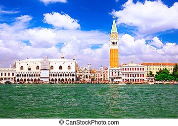 Seafront of Venice,Doges Ducale Palace, Venice - Seafront of...