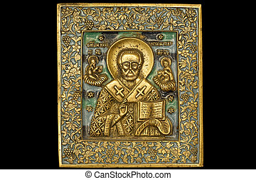 Icon 01 - An ancient saint metallic icon