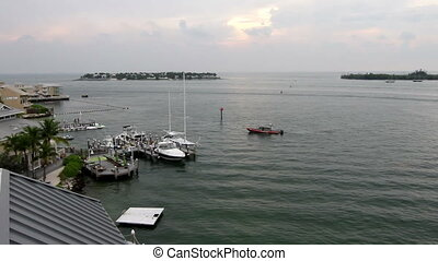 Key West Police Boat on Patrol - Key West Florida, Police...