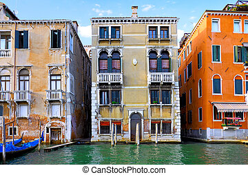Beautiful street,Grand Canal in Venice, Italy - Beautiful...