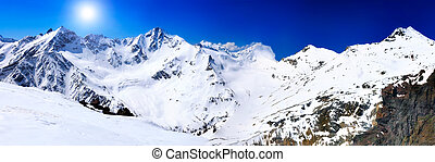 Beautiful view of mountains in the Elbrus areaEurope