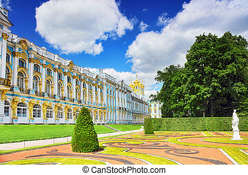 Katherines Palace hall in Tsarskoe Selo Pushkin, Russia