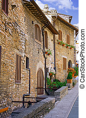 City cview of Assisi. Umbria. Italy - City cview of Assisi....