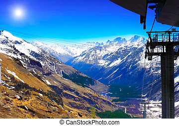 Beautiful view of mountains in the Elbrus area Land View