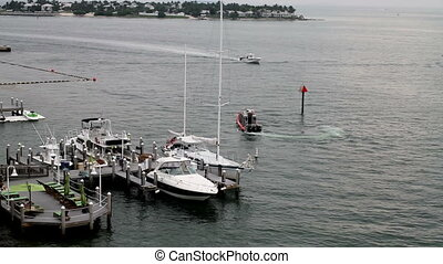 Key West Police Boat on Patrol