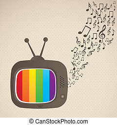 classic television - illustration of classic television,...