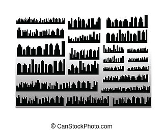 Vector Skylines - Creative Abstract Conceptual Design Art of...