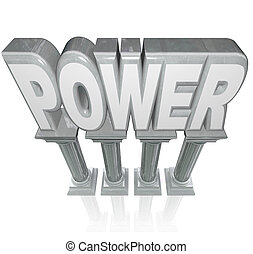 Power Word Granite Marble Columns Powerful Strength