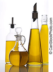 assortment of carafe of olive oil