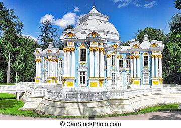 Pavilion Hermitage in Tsarskoe Selo. St. Petersburg, Russia