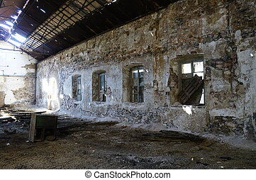 Deserted factory of mining area