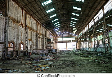 Old Mining-Industrial interior - The interior of a machine...