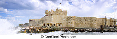 Kite-Bey Fortress place ruins in Alexandria. - Kite-Bey...