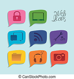Social networking - Illustration of icons of social...