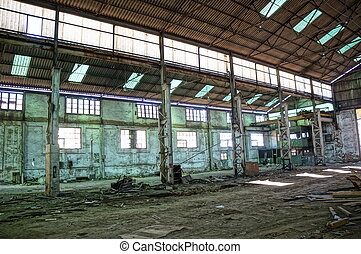 Interior of old mine - Deserted factory, Interior of old...