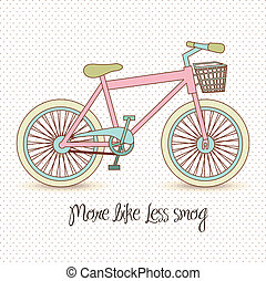 pastel colored bike - illustration of pastel colored bike,...