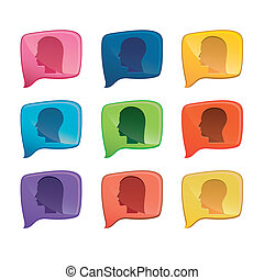 social share - Illustration of icons of social networking,...
