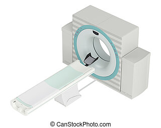Isolated CT-scanner used in hospital diagnostics to produce...