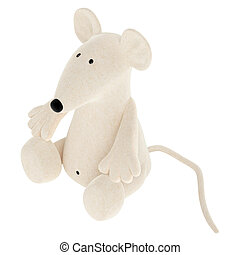 Cute toy mouse - Cute white toy mouse or rat with a rather...