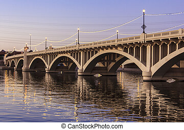 Mill Avenue Bridges in Tempe - Mill Avenue Bridge across the...