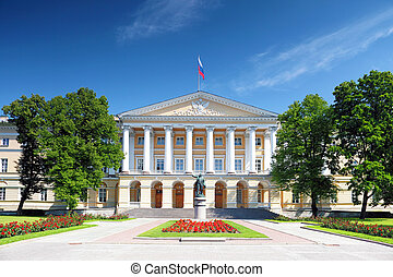Beautiful architecture Smolny Palace St. Petersburg. Russia.