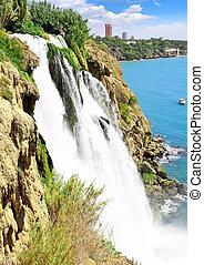 The Big waterfall Duden in Antalya - The Big waterfall Duden...