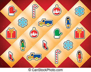 Background with Christmas toys