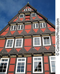 Half-timbered house in Celle, Lower Saxony, Germany.