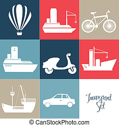 transportation icons - Illustration of transportation icons...