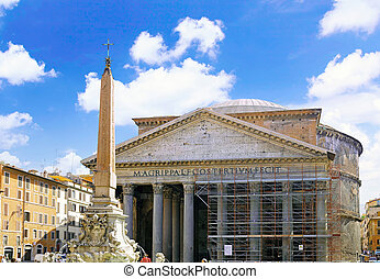 The World famous landmark in Rome -Pantheon , Italy
