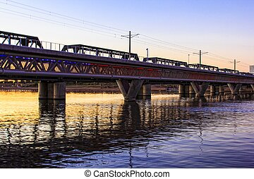 Bridge in Tempe, Arizona - Bridge across the Salt River in...