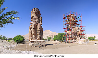 Faraoner, dal, Görar till kung,  Luxor, staty