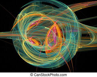 Colour abstract art balls background. - Colour abstract art...