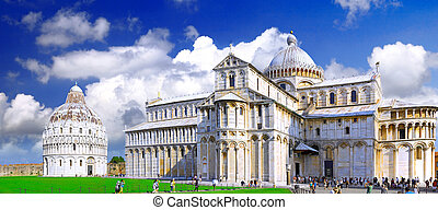 Famous Square of Miracles in Pisa, Italy