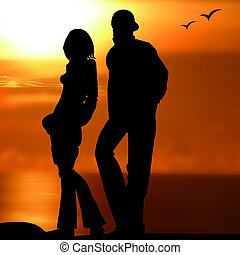 Couple, lover,Ballad, to walk, - Couple, lover, girl, boy,...