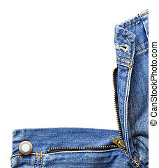 Jeans texture - Blue denim jeans zipper.