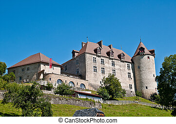 Gruyeres castle - Gruyeres is a litlle town in Fribourg...