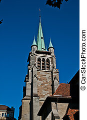 Lausanne Cathedral protestant ghotic church Vaud Switzerland