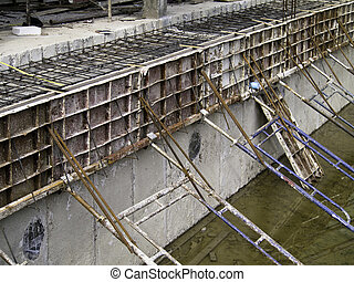 Unfinished swimming pool, still under construction
