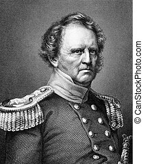 Winfield Scott (1786-1866) on engraving from 1859. United...