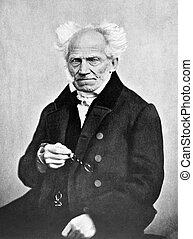 Arthur Schopenhauer 1788-1860 on antique print from 1898...