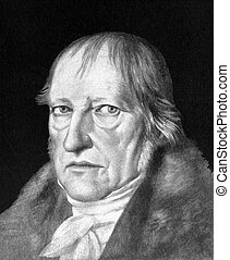Georg Wilhelm Friedrich Hegel (1770-1831) on antique print...