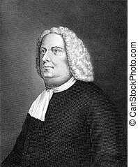 William Penn 1644-1718 on engraving from 1859 English real...